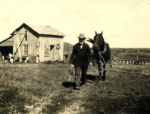 A North Dakota homesteader